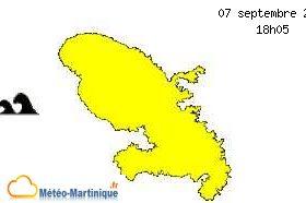 forte houle en Martinique