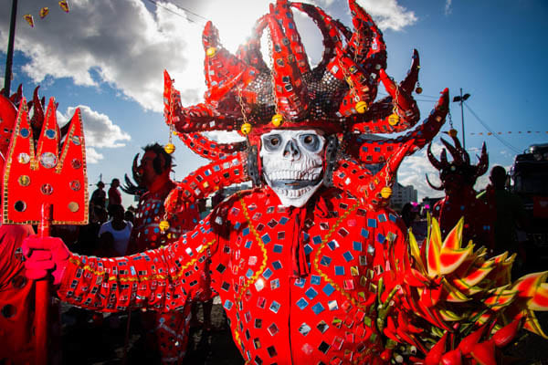 Martiniquais déguisé en diable