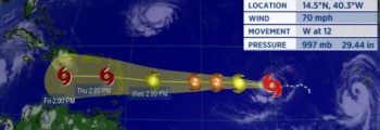 Isaac sera un ouragan de catégorie 2