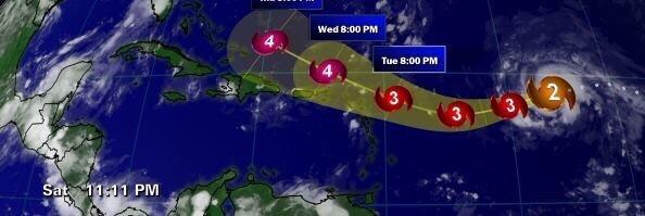 direction ouragan Irma
