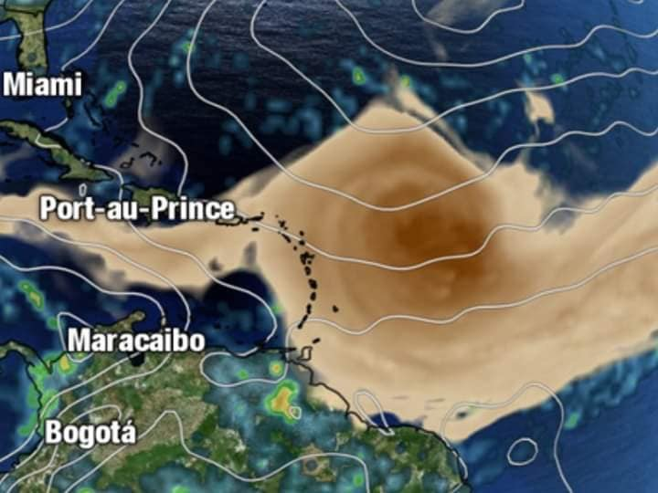 Brume de sable aux Antilles